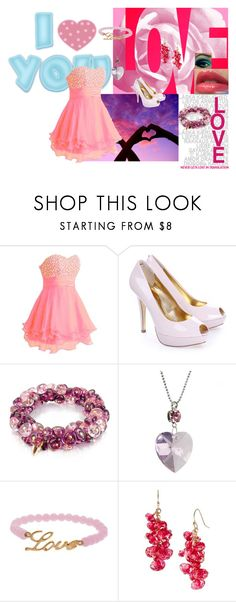 """""""Pink and Love!"""" by glee2shake ❤ liked on Polyvore featuring FairOnly, Ted Baker, Antica Murrina, Krystal, Talullah Tu and La Prairie"""