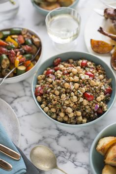 CHICKPEA & LENTIL SALAD WITH MINT & PARSLEY