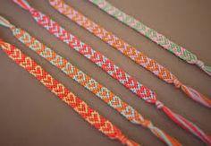 Coole armbandjes van schattige touwtjes in leuke kleurtjes!
