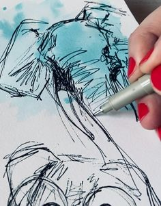 Daily Drawing, Drawing Skills, Drawing Lessons, Drawing Techniques, Colorful Drawings, Easy Drawings, Animal Paintings, Animal Drawings, Portrait Drawing Tips