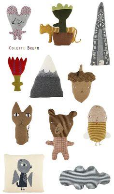 Pletené polštářky Colette Bream