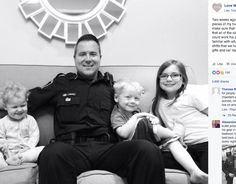 With Touching Photo, Police Officer's Wife Urges Us All to Hold Tight to Every Moment