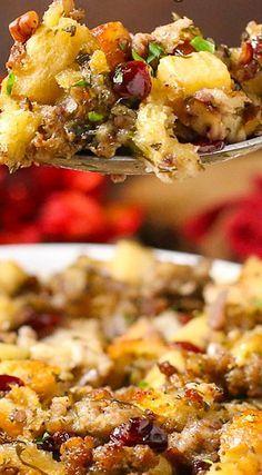 Sausage, Cranberry & Apple Stuffing Recipe