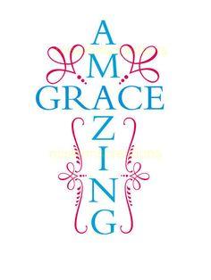 Amazing grace SVG Cut file Cricut by MissLoriscreativecut
