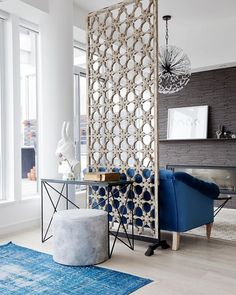 The Cross Decor & Design ( Condo Living, Living Room Modern, Living Spaces, Living Rooms, Room Deviders, Crosses Decor, Living Room Inspiration, Decoration, Interior Architecture