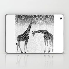 Giraffe patterns for wallpaper Laptop & iPad Skin