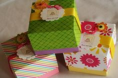 DIY Cupcake box holder - perfect for wedding or shower favors