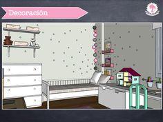 Proyecto de kidsmopolitan habitación niña de dos años. Muebles de de #ikeakids , vinilos, color menta, rosa y gris, guirnalda, http://kidsmopolitan.com/dormitorio-atractivo-para-una-nina-de-dos-anos/ #decoración infantil #habitación de niña, #dormitorio de niña #girl room