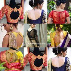 Simple Blouse Designs, Blouse Back Neck Designs, Stylish Blouse Design, Bridal Blouse Designs, Shagun Blouse Designs, Kerala Saree Blouse Designs, Sari Blouse, Neck Designs For Suits, Blouse Models