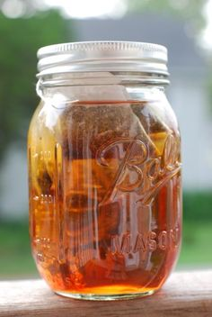 Sun tea...so simple  couple tea bags, couple hours of direct sun, I like southern sweet and honey (1/3-1/4 cup of sugar for a quart jar with 1-2 tbs. honey), add ice and enjoy!!!