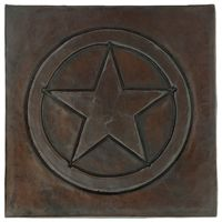Shop now for Top Quality copper kitchen sinks, copper bath sinks, copper bar sinks & copper tile. Your custom copper sink sold direct to you. Copper Bath, Copper Kitchen, Soda Can Crafts, Texas Star, Art And Craft Design, Hammered Copper, Decorative Tile, Star Designs, Decorative Accessories