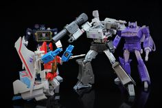 Transformers Masterpiece MP-36 Megatron with MP-11 Starscream (Coronation Ver.), MP-13 Soundwave and MP-29 Laserwave