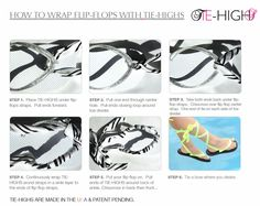 HOW TO WRAP FLIP FLOPS WITH TIE-HIGHS – FLIP FLOP WRAPS