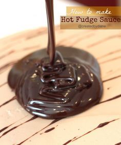How to make Hot Fudge Sauce @createdbydiane #food #recipe #chocolate
