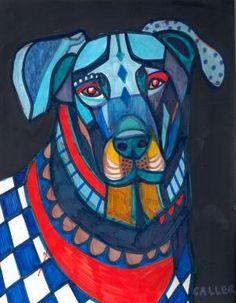 Beauceron Dog (artwork by Heather Galler)