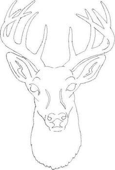 free deer head patterns Scroll Saw Patterns Medium Patterns Deer Silhouette Wood Burning Stencils, Wood Burning Crafts, Wood Burning Art, Stencil Wood, Stenciling, Hirsch Silhouette, Deer Silhouette, Pyrography Patterns, Wood Carving Patterns