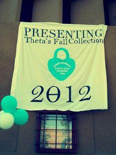 Tiffany's Theme, Bid Day, Kappa Alpha Theta Sign Ideas, Sorority Bid Day Ideas