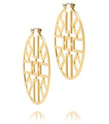 Tory Burch JORDAN WIRE HOOP EARRING.  I don't do hoops, but I may do these.