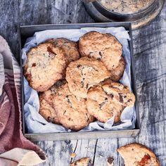 Nadia Lim's apricot, coconut and chocolate chunk cookie recipe creates the perfect treat to enjoy on the road to your campsite – they'll put a smile on everyone's faces! Pop in a tin and dig in! Caramel Biscuits, Yummy Treats, Sweet Treats, Chocolate Chunk Cookies, Biscuit Cookies, Healthy Baking, Healthy Snacks, Something Sweet, Kid Friendly Meals