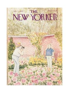 Premium Giclee Print: The New Yorker Cover - July 1980 by Charles Saxon : The New Yorker, New Yorker Covers, Poster Wall, Poster Prints, Art Prints, Room Posters, Illustrations, Illustration Art, Vintage Magazines