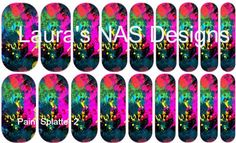 Paint Splatter 2 #NAS #Jamberry #NailArtStudio #NailArt #DIY