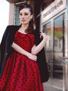 """For a stylish Valentine's Day: the """"Tiffany"""" dress. Shop and see the full story on the blog--> http://blog.Lauren-ElaineDesigns.com.  Order by 12pmPST 2/12 for guaranteed delivery by Valentines Day (within the US only)"""