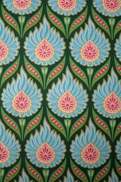 "I pinned this image into my ""Pattern"" board because you can see the repetative print of prin flowery object, covered by the blue peddles, then outlines by green, each of these are ""Copied"" and ""Pasted"" (REPEATED) to create a pattern"