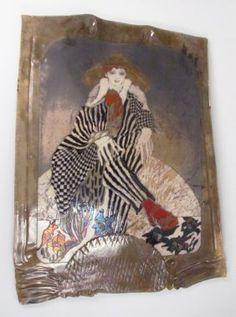 Lot: Susan and Steven Kemenyffy Raku Ceramic Relief, Lot Number: 0723, Starting Bid: $225, Auctioneer: Concept Art Gallery, Auction: 4/11/15 Mod/Contemporary Art & Design, Date: April 11th, 2015 CDT