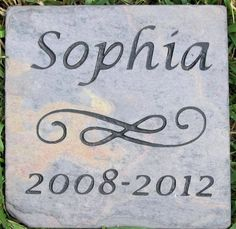 PERSONALIZED Pet Memorial Stone Grave Marker Headstone 6 x 6 Memorial Marker Headstone Gravestone #burial_stone_marker #cat_memorial #dog_memorial