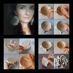 mini tuto...;) | Polymer clay earrings by Sona Grigoryan