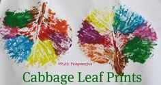 Cabbage leaf prints