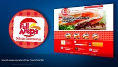 Full Arepa, desarrollo de imagen corporativa y web site.