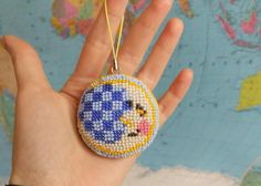 Day and Night Keychain Sun and moon Bag Charm by FairyBeadsStore