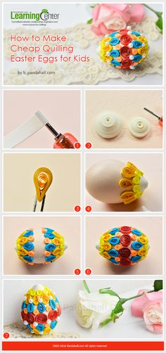 How to Make Cheap Quilling Easter Eggs for Kids from LC.Pandahall.com