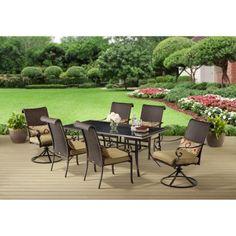 Better Homes and Gardens Riverwood 7-Piece Patio Dining Set, Seats 6 - Walmart.com