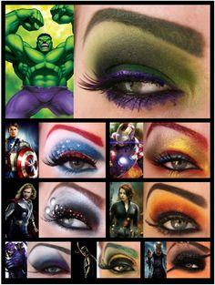 Avengers Eye Make-up!