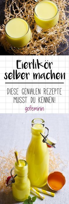 Genial einfach: So machst du cremigen Eierlikör ganz leicht selber! The creamy drink is extremely popular at Easter. We'll tell you how to make the yellow drop in your home kitchen. No Egg Desserts, Easy Easter Desserts, Healthy Dessert Recipes, Easter Recipes, Smoothie Recipes, Smoothies, Chocolat Lindt, Easter Drink, Winter Drinks