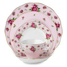 Royal Albert New Country Roses Pink Formal Vintage Dinnerware - BedBathandBeyond.ca