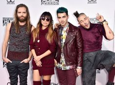 DNCE from 2015 American Music Awards: Red Carpet Arrivals  Joe Jonas and the rest of his pop band definitely coordinated their AMAs looks!