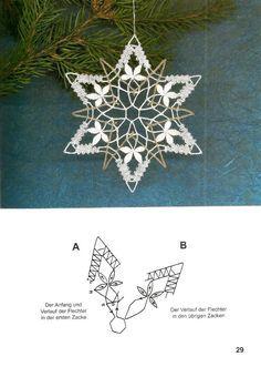 """""""Рождественские мотивы""""                                                       … Crochet Snowflake Pattern, Crochet Snowflakes, Crochet Motif, Crochet Flowers, Crochet Edgings, Bobbin Lace Patterns, Loom Patterns, Crochet Patterns, Polly Polly"""