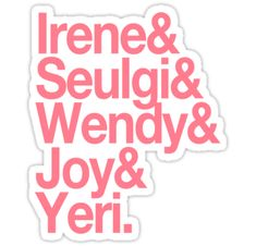 Pegatinas «RED VELVET - 레드벨벳 - Pink Edition» de ktees | Redbubble Printable Stickers, Cute Stickers, Kpop Logos, Aesthetic Stickers, Laptop Stickers, Kpop Groups, Red Velvet, Iphone Wallpaper, Journals