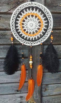 Morski by Ma Ko Bo - Salvabrani Making Dream Catchers, Dream Catcher Craft, Crochet Decoration, Decorative Accessories, Dreaming Of You, Native American, Wall Decor, Mandala Crochet, Dreamcatchers