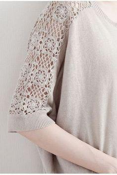 Captivating Crochet a Bodycon Dress Top Ideas. Dazzling Crochet a Bodycon Dress Top Ideas. Pull Crochet, Mode Crochet, Crochet Fabric, Crochet Lace, Crochet Patterns, Crochet Collar, Crochet Blouse, Crochet Clothes, Diy Clothes