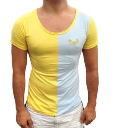 Yellow and blue T-shirt  | summer Clothing for men