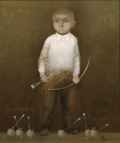 Alexey Terenin : Shooting Lessons (2009) Size of canvas: H:69cm x W:58.60cm Oil on Canvas