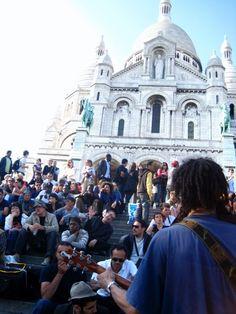 Monmartre et les musiciens.