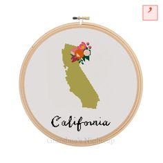 Cross Stitch Pattern California Modern Cross by GrandmasNightcap