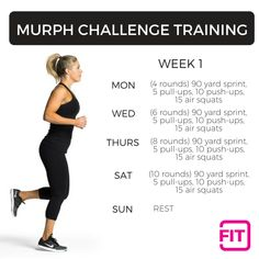 Try something different this Memorial Day, and honor America with fitness! Accept the Murph Challenge and dedicate your workout to our amazing military! Body Squats, Air Squats, Thigh Challenge, Workout Challenge, Plank Challenge, Workout Ideas, Gym Workouts, At Home Workouts, Quick Workouts
