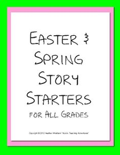 Easter and Spring Story Starters - Pinned by @PediaStaff – Please Visit  ht.ly/63sNt for all our pediatric therapy pins