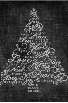 Free Printable Christmas Tree 8x10 or Poster Size. this can be framed or mounted on foam core for an easy farmhouse christmas decoration. #farmhousechristmas #printable #chalkboard